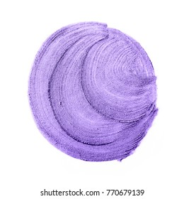 Beautiful textured Ultra Violet strokes isolated on white background.