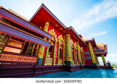 Beautiful Thai church in Prayodkhunpol Wiang Kalong temple, Thailand.