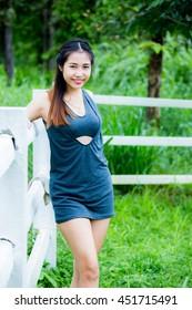 beautiful Thai  girl in chiangmai Thailand