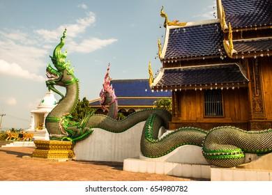 Beautiful Thai style church at Ban Den temple, Thailand.