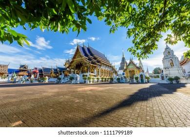 Beautiful Thai style at Wat Baan Den in Mae Tang,Chiang Mai.