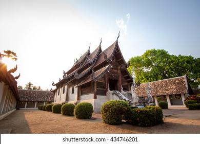 Beautiful Thai temple in Chiang mai