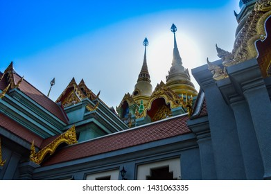 Beautiful Thai temple in Gold