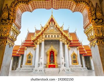Beautiful Thai Temple Wat Benjamaborphit, temple in Bangkok