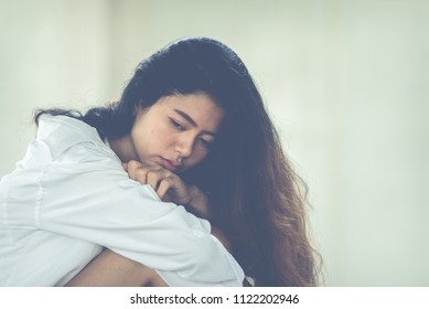 Beautiful thai woman very sad from unrequited love