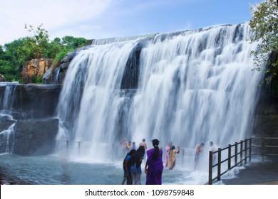 Beautiful Thirupparappu waterfalls, kanyakumari, Tamilnadu, India
