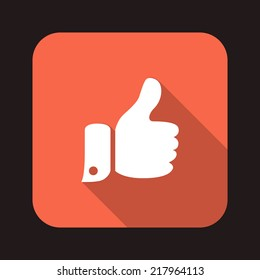 Beautiful thumbs up web icon