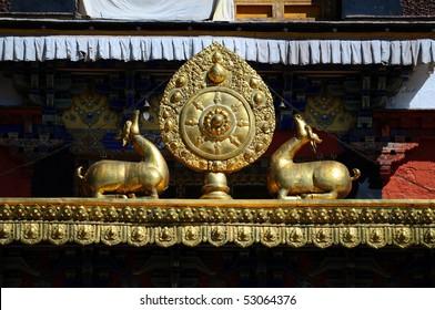 Beautiful Tibetan monastery decoration