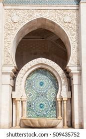 Beautiful tile patterns, Hassan II Mosque Casablanca, Morocco