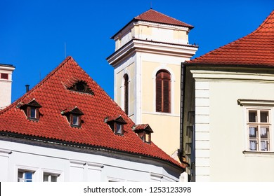 beautiful tile roofs of old houses