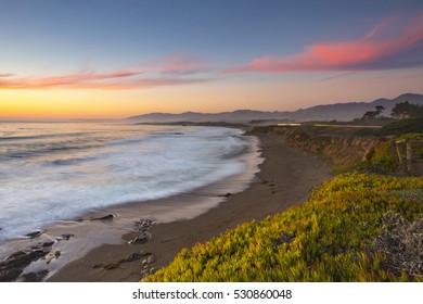 Beautiful time at HWY1, Pacific Ocean, California, USA.