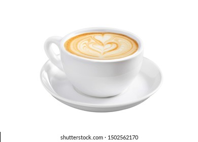 Beautiful top coffee isolated on white background.