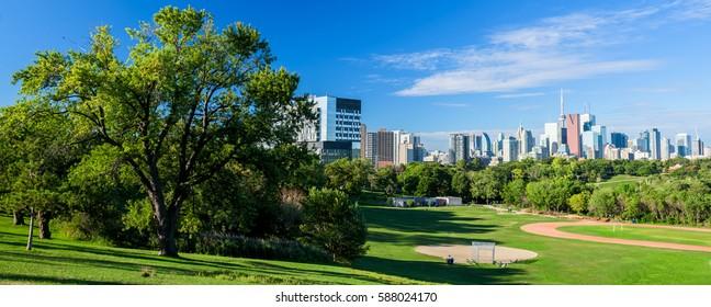 Beautiful Toronto city skyline, Ontario, Canada