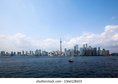 Beautiful Toronto City view from The Island