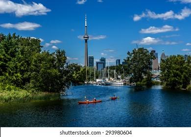 The beautiful Toronto Islands (Formerly Island of Hiawatha or Menecing). The islands are a popular recreational destination. Toronto, Ontario, Canada