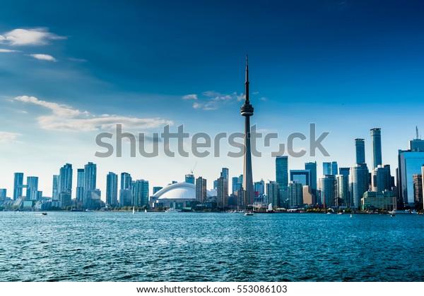 美しいトロントのスカイライン。カナダ,オンタリオ