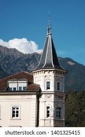 Beautiful tower in Meran, South Tyrol, Italy.