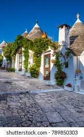 Beautiful Town Of Alberobello With Trulli Houses - Apulia Region, Italy, Europe