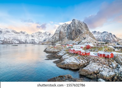 beautiful town of hamnoy at lofoten islands, norway