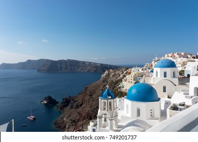 Beautiful town Oia on Santorini island, Greece