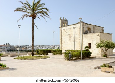Beautiful town of Otranto and its beach on Salento peninsula in Puglia region, Italy