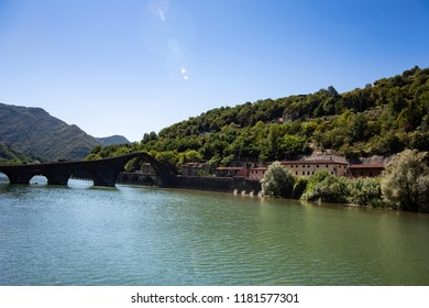 Beautiful town in the province of Lucca with the bridge called Ponte del diavolo, TuscanyBeautiful town in the province of Lucca with the bridge called Ponte del diavolo, Tuscany
