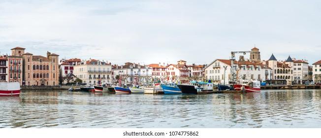 beautiful town of saint jean de Luz,  France