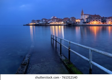 The beautiful town of Umag, Istria (Croatia) at dusk.