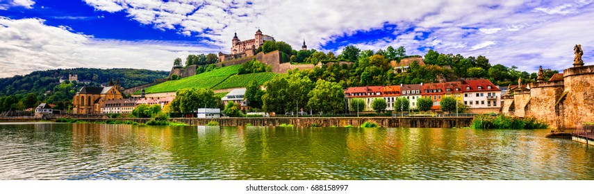 Beautiful towns and places of Germany - picturesque Wurzburg, northen Bavaria
