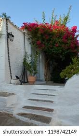 Beautiful Traditional House in Hydra  with bougainvillea and anchor