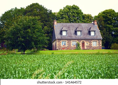 Beautiful traditional house near Mur de Bretagne, Brittany, France.