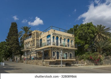 beautiful traditional house in Tiberias on the Sea of Galilee shoreline