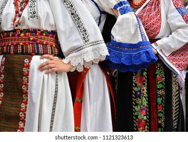 Beautiful traditional Romania costumes from Dobrogea , Romania