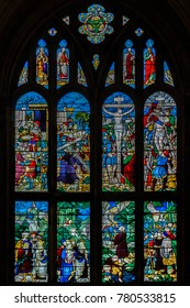 Beautiful Traditional Stained Glass Window for 3D Texture