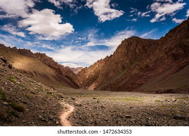 Beautiful trails in the heart of Himalaya, Stok Kangri, Leh-Ladakh, J&K, India