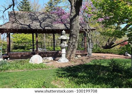 Beautiful Tranquil Osaka Japanese Garden Chicago Stock Photo (Edit ...