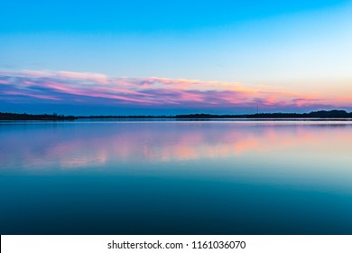 The beautiful and tranquil side of Fort Cobb lake in Oklahoma.