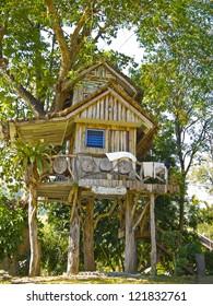 beautiful tree house (Suan Phung, Ratchaburi, Thailand).