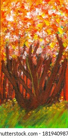 beautiful tree oil painting art