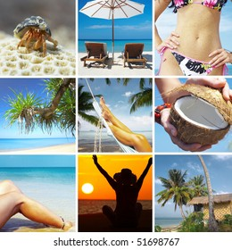 beautiful tropic  lifestyle theme collage made from few photographs