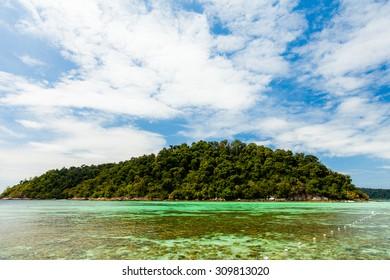 Beautiful tropical Andaman sea and beach and island in Thailand. Lipe island .