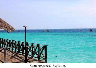 Beautiful tropical beach island of Zanzibar