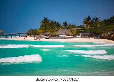 Beautiful tropical beach, the island of Zanzibar.