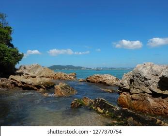 Beautiful tropical beach at Itapema SC Brazil