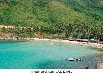 The beautiful tropical beach of Nam Du, the paradise island with the coast, white sand, clean water, boat, forest and blue sky. Nam Du island is a popular tourist destination in Kien Giang, Vietnam
