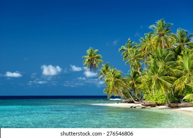 beautiful tropical beach on the maldives