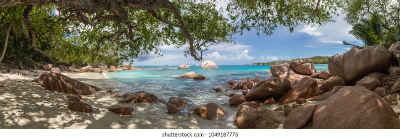 Beautiful tropical beach panorama
