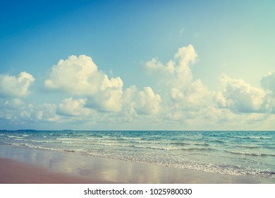 Beautiful tropical beach and sea with copy space