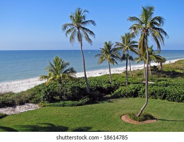 beautiful tropical beach shoreline Sanibel Island Florida