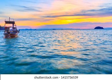 Beautiful Tropical beach at sunrise beach , Koh Lipe island , Satun,Thailand